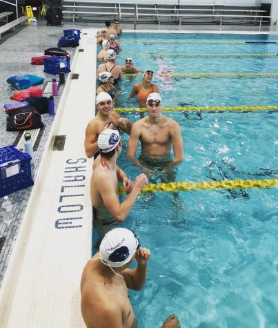 Swimmers look excited for their first practice of the season on November 2nd, 2020.