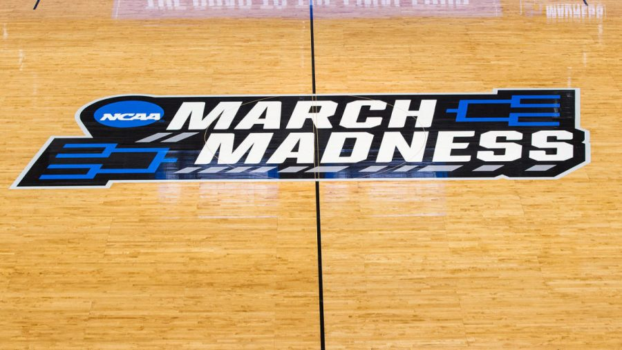 HARTFORD, CT - MARCH 21: A general view of the NCAA logo during the first round of March Madness on March 21, 2019, at XL Center in Hartford, CT. (Photo by M. Anthony Nesmith/Icon Sportswire via Getty Images)