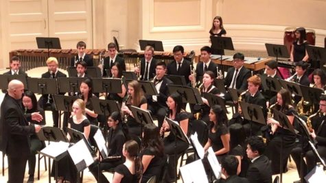 The LMHS Wind Ensemble performs at Carnegie Hall in 2019.